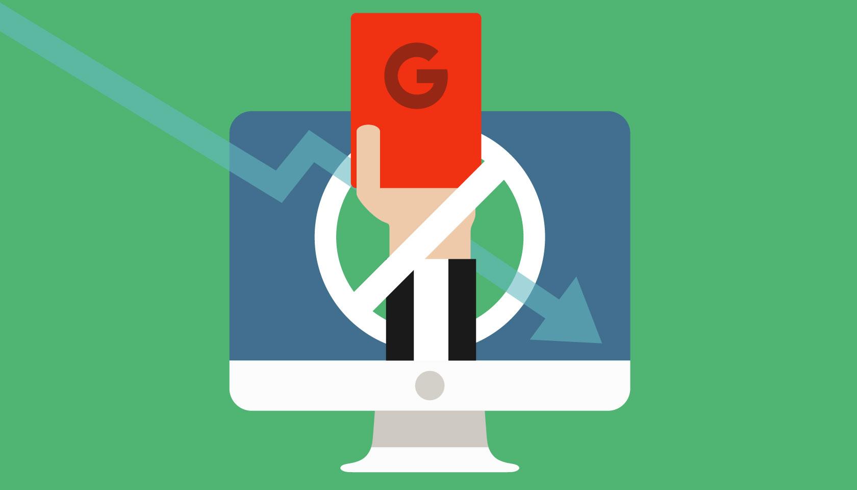 چگونه بفهمیم از گوگل پنالتی شده ایم؟با 4 روش!