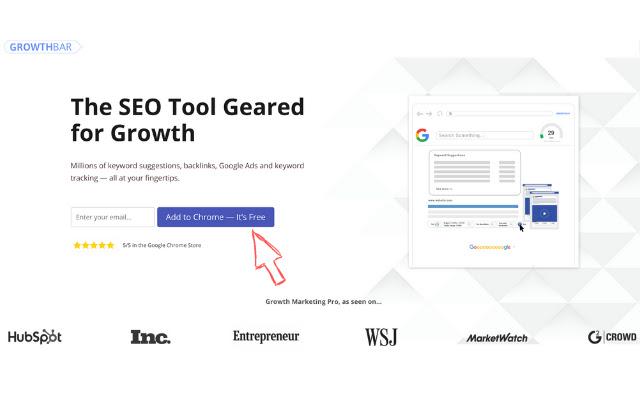SEO Chrome Extension #3 GrowthBar