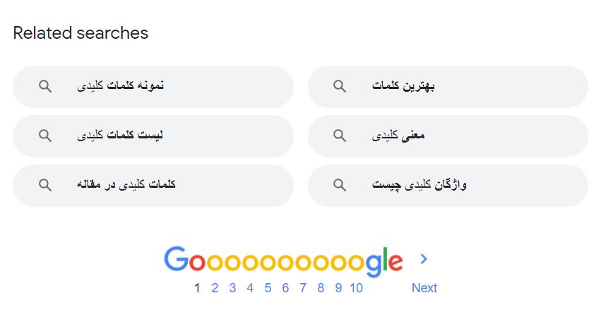 تحقیق کلمه کلیدی در گوگل