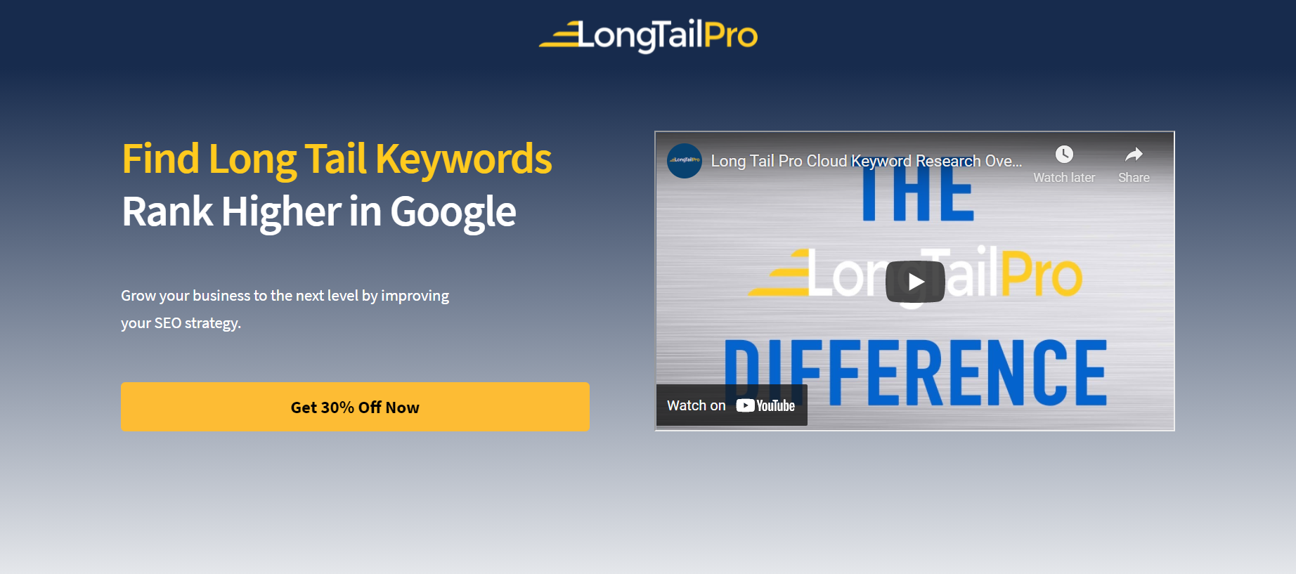 ابزار پیشنهاد کلید واژه شماره 3: LongTailPro