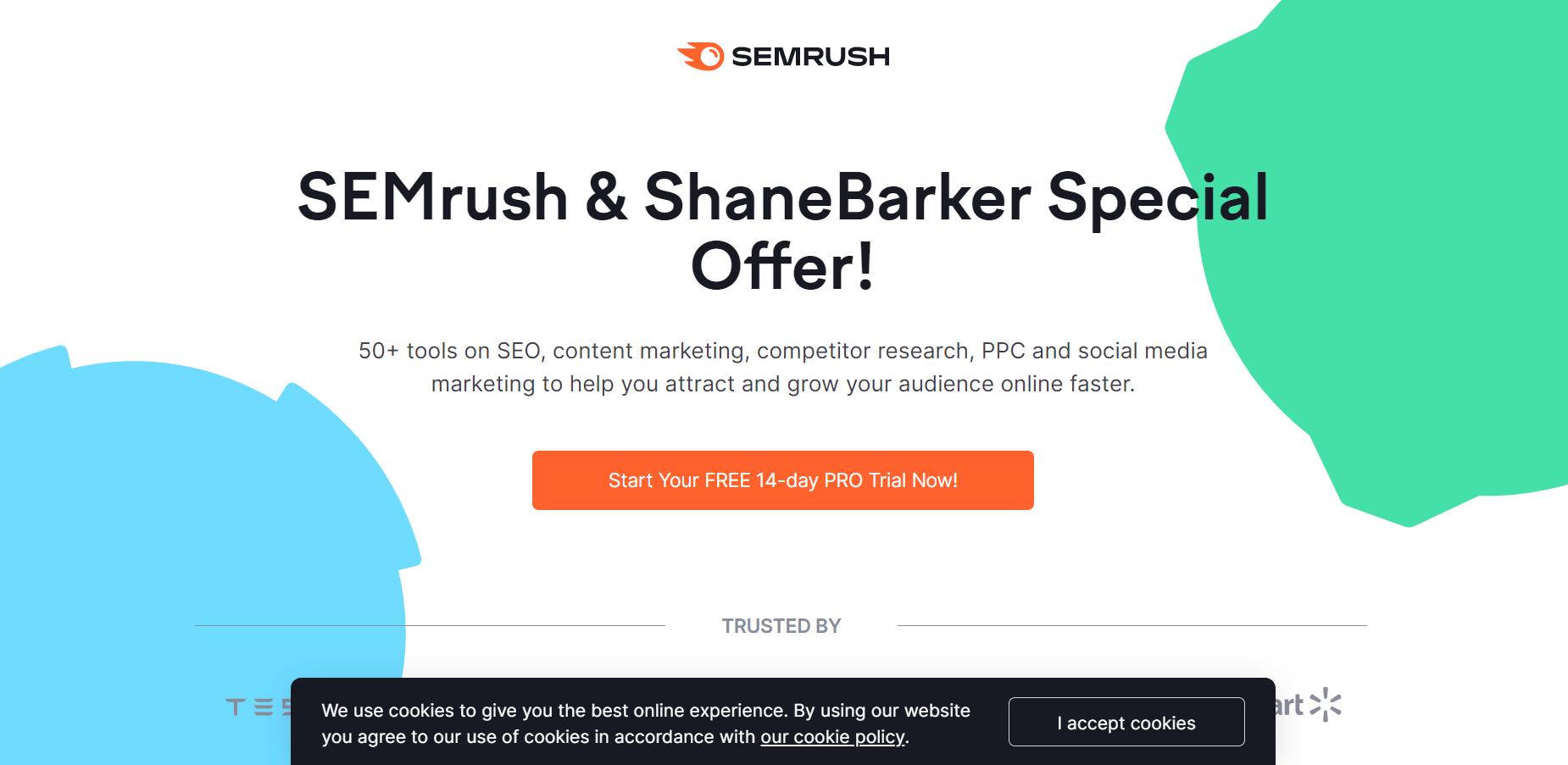 ابزار پیشنهاد کلمه کلیدی شماره 1: SEMrush